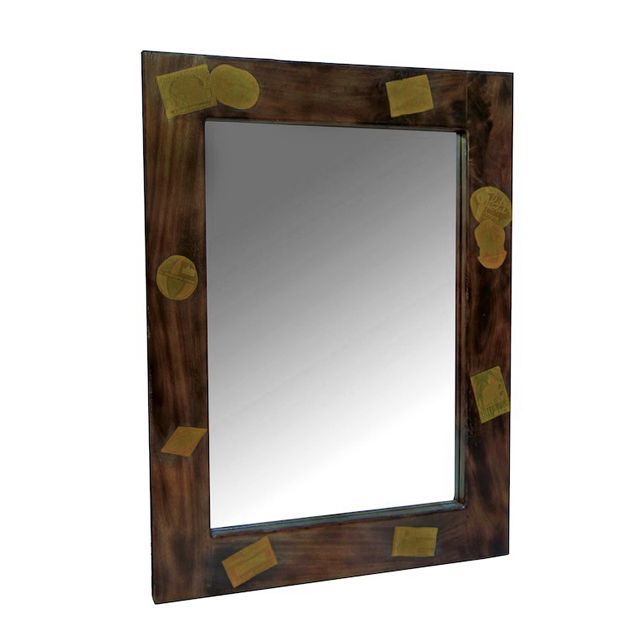 mirror 80x100 docker wood dark living room furniture