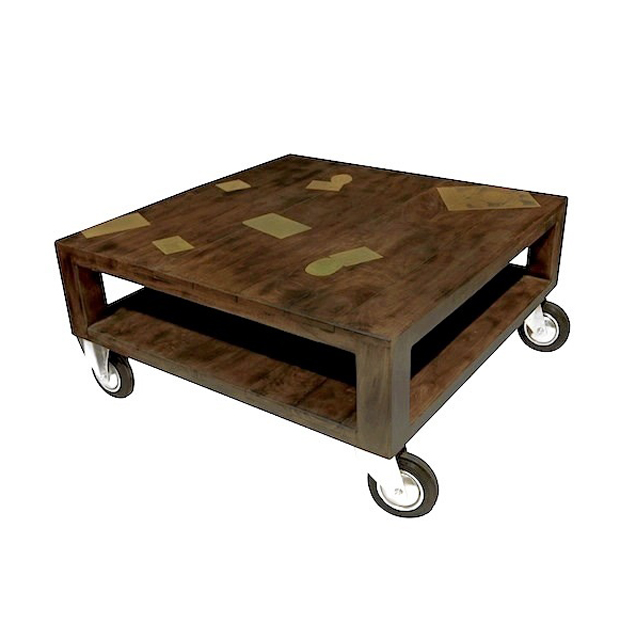 Coffee table palette 4 wheels docker wood living room for Coffee tables uae