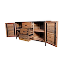 DOF203 - SIDEBOARD 2 Drawers 2 Doors (Open)