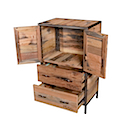 DOF215 - CHEST 2 Drawers 2 Doors (Open)