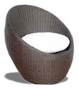 Synthetic Materials Sofa - Egg armchair rattan synthetic