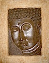 HSS31 - RELIEF BUDDHA FACE WITH FRAME