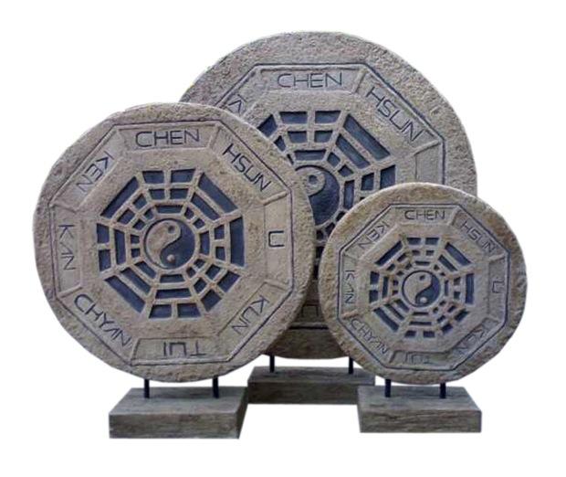 Round deco yin yang resin various uae dubai rak for Deco yin yang
