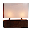 HLB05 - LAMP DOUBLE BROWN
