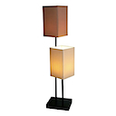 HLC10 - STAND 2 LAMPS CLASSIC FABRIC