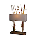 HLN02 - LAMP NATURAL DOUBLE WOOD