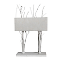 HLN02W - LAMP DOUBLES BRANCH WHITE