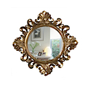 HMW47 - MIRROR ROUND ANTIQUE