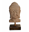 HSS15 - BUDDHA HEAD STATUE ON STAND