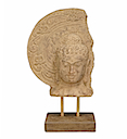 HSS35 - BUDDHA HEAD STATUE ON STAND