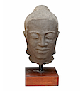 HSS36 - WOMAN HEAD STATUE ON STAND