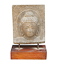 HSS38 - BUDDHA HEAD STATUE ON STAND