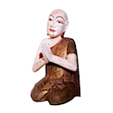 HWP010 - PRAYING MONK BRONZE MEDIUM