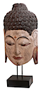 HWP012 - BUDDHA HEAD ON STAND
