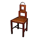 M06 - CHAIR SQUARE BACK TEAK LEATHER SEAT