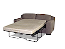 MB-0750 - SOFA BED (Brown Fabric)