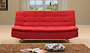 MB-0755 - CLICK CLACK SOFA BED (Red Fabric)