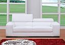 Fabric Sofa - Sofa 2 seater white fabric