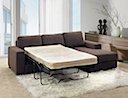 MB-0974-1 - SOFA BED (Brown Fabric)
