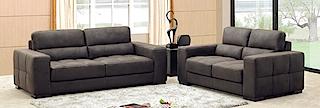 Fabric Sofa - Sofa 2 seater black fabric