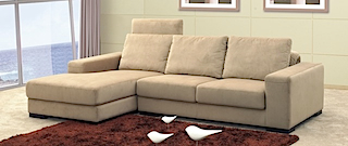 Fabric Sofa - Sofa right & left angle light fabric