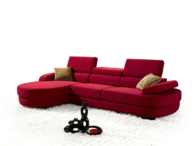 MB-1020 Sofa Right & Left Angle Red Fabric (Sofa Bed Fabric)
