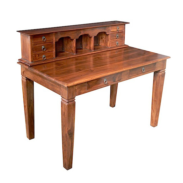 MM178 Writing Desk Teak Removable Top