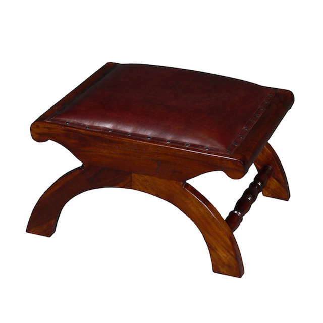 MM414 Foot Stool Leather 45x57x33cm