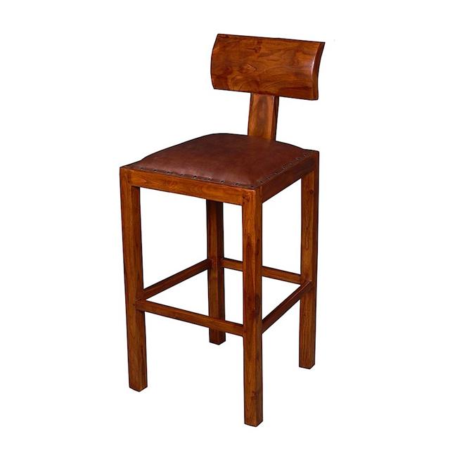 Bar Stool Solid Back Casual Furniture Uae Dubai Rak
