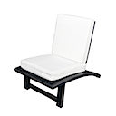 MM806 - LAZY CHAIR WHITE FABRIC