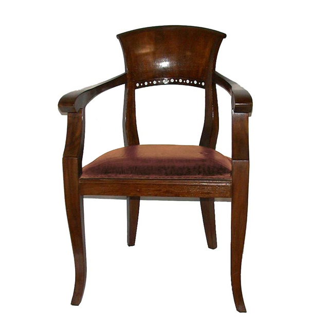 MM841B Bidermaier Armchair Antique Leather