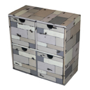 PLY28G - CD BOX 4 DRAWERS