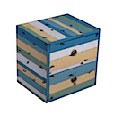 PLY45B - CUBE 2 Drawers (Blue)
