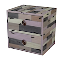PLY45G - CUBE 2 Drawers (Grey)