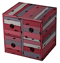 PLY46R - CUBE 4 Drawers (Rose)