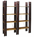PRO05 - LIBRARY BOOKSHELVES 180x200 4 Racks