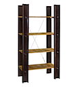 PRO16 - LIBRARY BOOKSHELVES 100x200 4 Racks