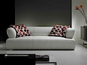 Leather Sofa - Sofa 3 seater white