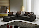 Leather Sofa - Sofa reversible dark brown