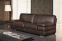 Leather Sofa - Sofa 2 seater brown leather