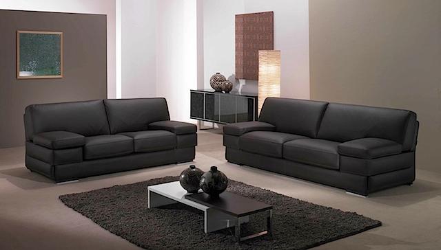 Sf7228 sofa 2 seater black leather sofa uae dubai rak for Sectional sofas dubai