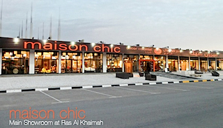 Maison Chic Showroom at Ras Al Khaimah.