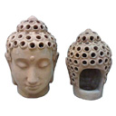 TC10 - BUDDHA HEAD CANDLE HOLDER