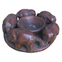 TC17 - CIRCLE ELEPHANT CANDLE HOLDER