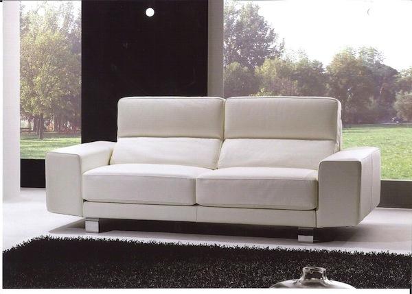 Zani01 Sofa 2 Seater White Leather