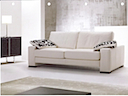 Leather Sofa - Sofa 2 seater white leather
