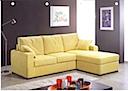 Fabric Sofa - Sofa right & left angle yellow fabric