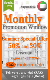 maison chic's Summer Special Offer 50% and 30% Discount July 2013...