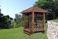 83132 - Bengkirey Wood Hexagonal Gazebo
