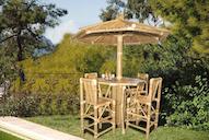 83217 - Table Umbrella Round 4 Bar Stool 115x115x110cm-D.210x280cm